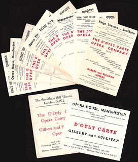 D'Oyly Carte provincial town schedules