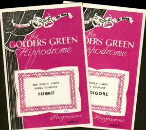 1961 Golders Green programs