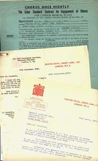 Contract and letters re Carousel