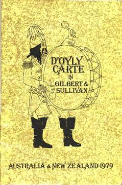 1979 D'Oyly Carte Australia / New Zealand tour