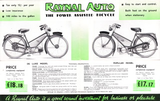 Raynal Auto, Power Assisted Bicycle prospectus