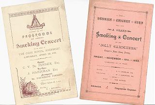 Smoking Concert programs